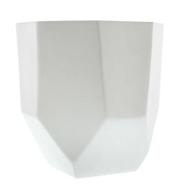 Large Matte White Lund Ceramic Pot