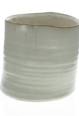 "4.5"" Fancy White Bower Ceramic Pot"