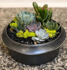"8"" Dark Grey Kure Bowl Arrangement"