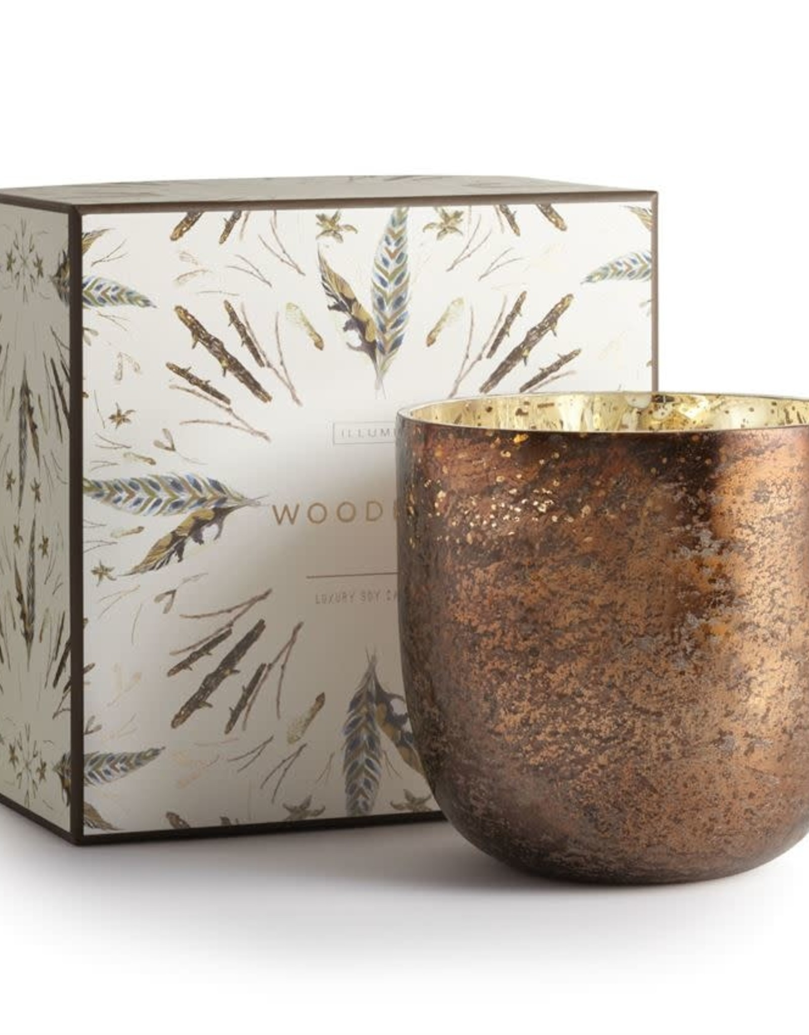 Woodfire Luxe Sanded Mercury Candle