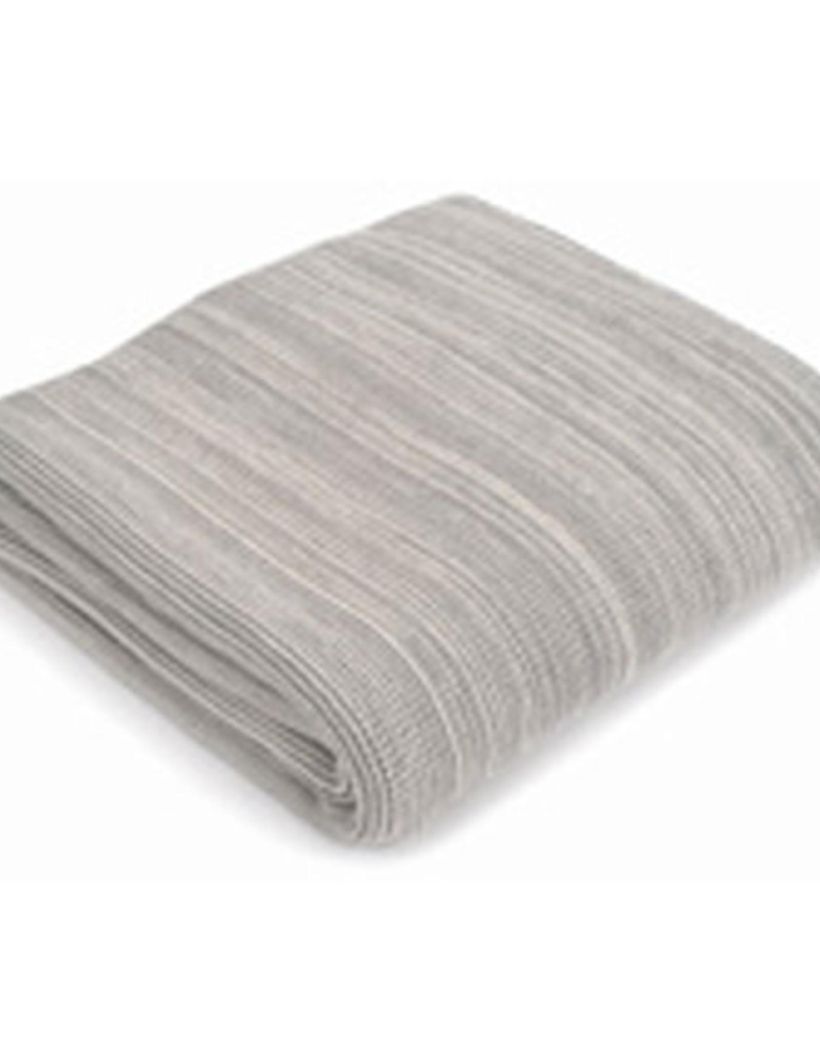"50 x 60"" Small Stitch Light Grey Cotton Blanket"