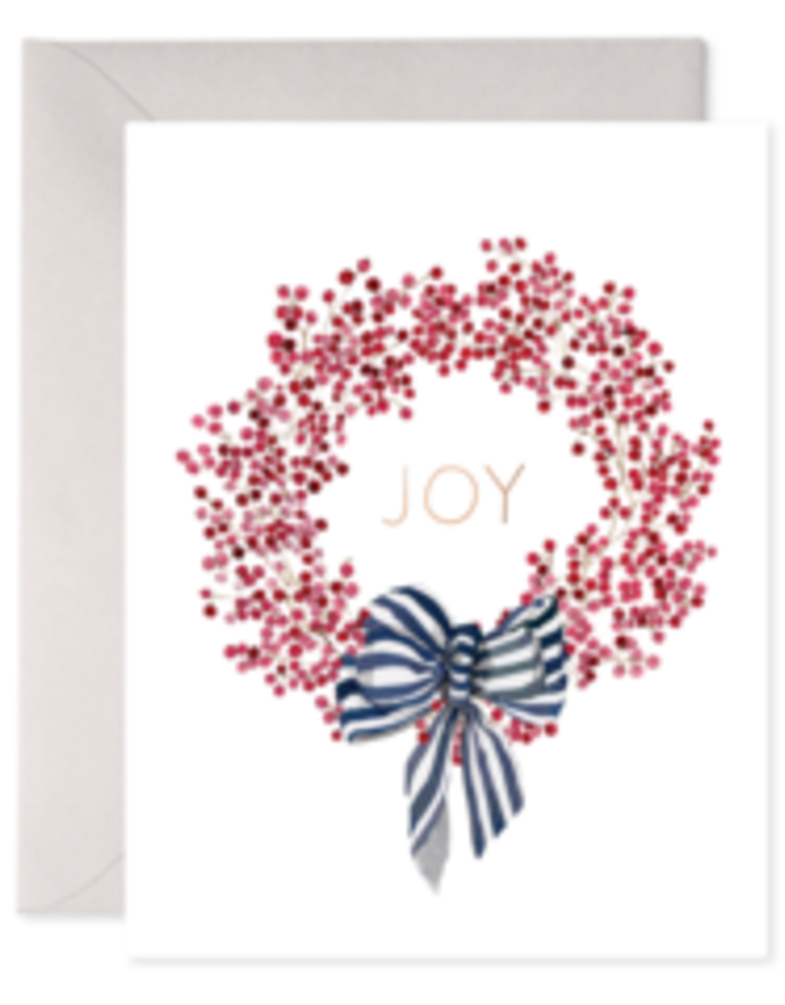 Red Berry Wreath Holiday Card