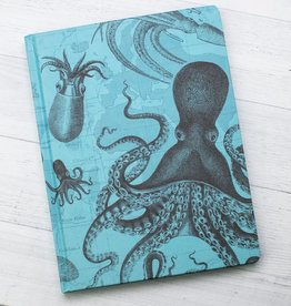 Cephalopod with Grid Notebook Hardcover