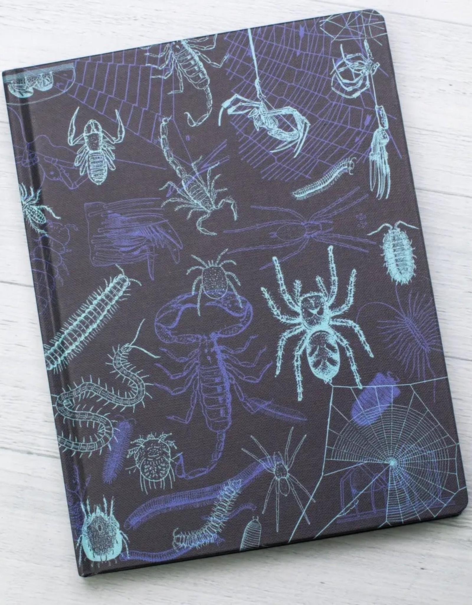Arachnids & Myriapods with Grid Hardcover Notebook