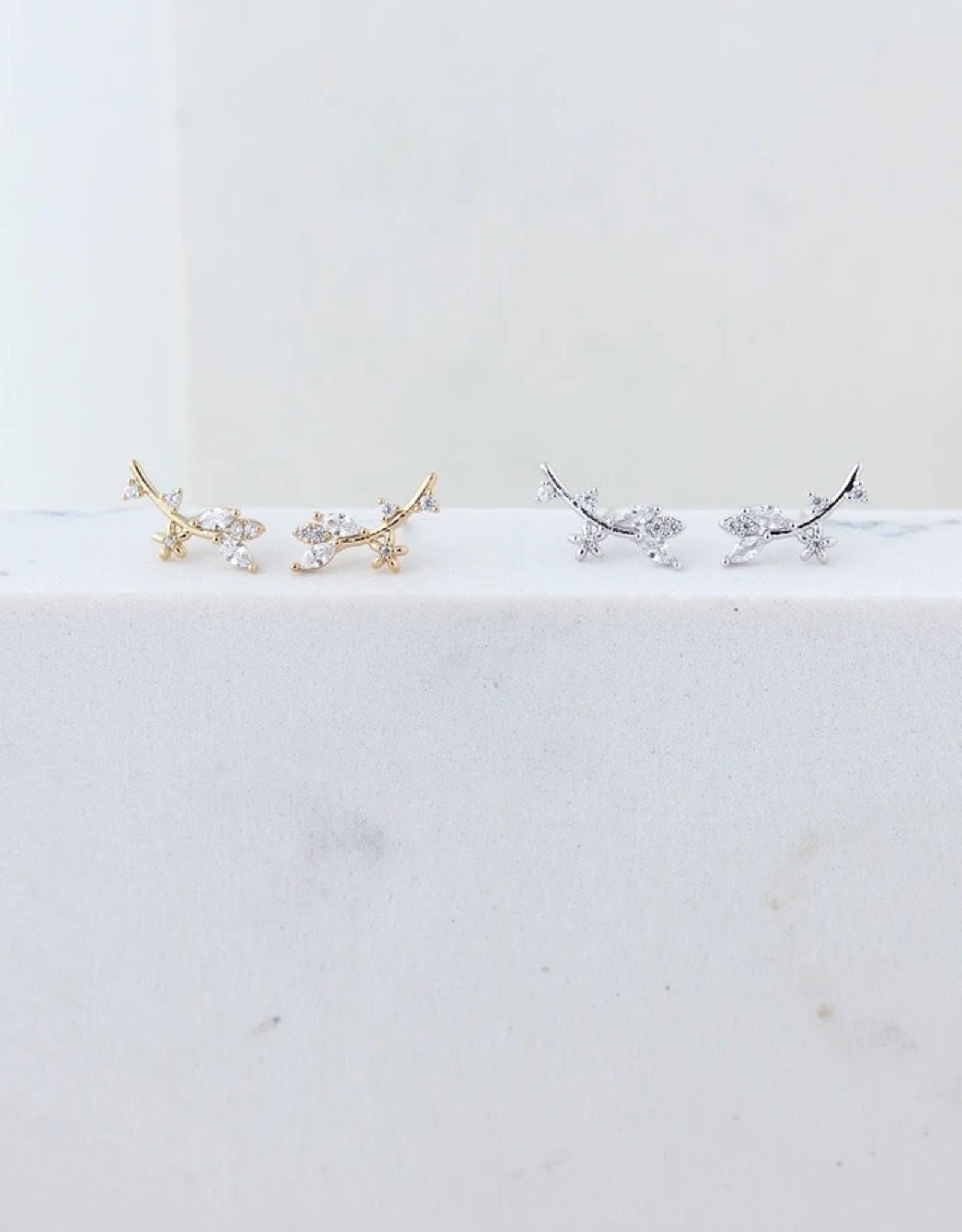 Silver Eden Climber Earrings