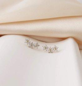 Blossom Earrings, Gold