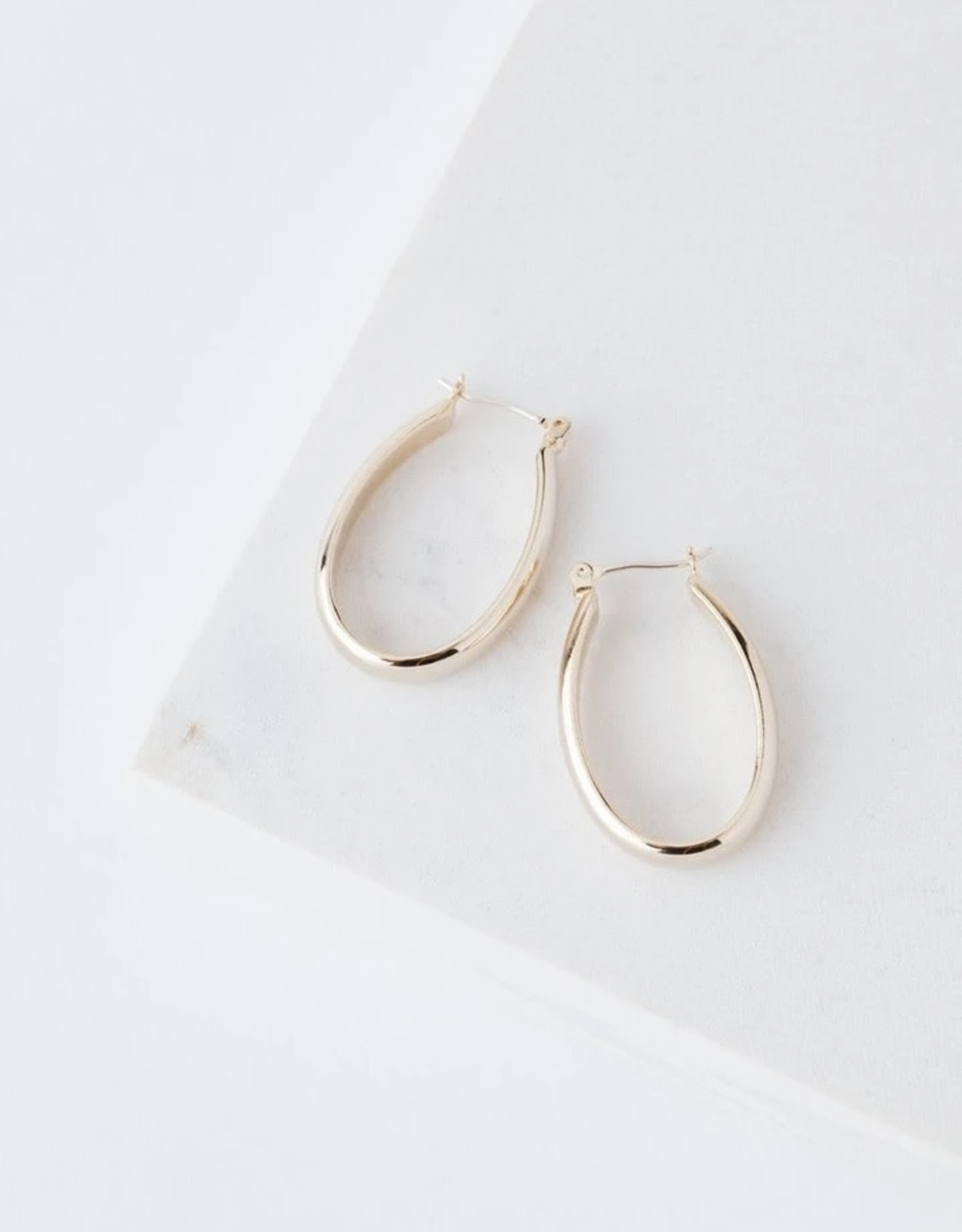 Earrings, Odette, Gold Plated Brass