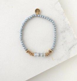 Marilla Stretch Bracelet - Ice Blue