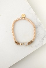Marilla Stretch Bracelet - Creamsicle
