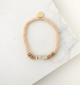Bracelet, Marilla Stretch, Creamsicle