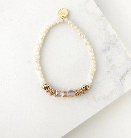 Marilla Stretch Bracelet- Marshmallow