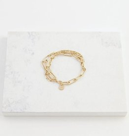 Bracelet, Shay, Gold Plated Brass