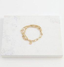 Gold Plated Brass Shay Bracelet