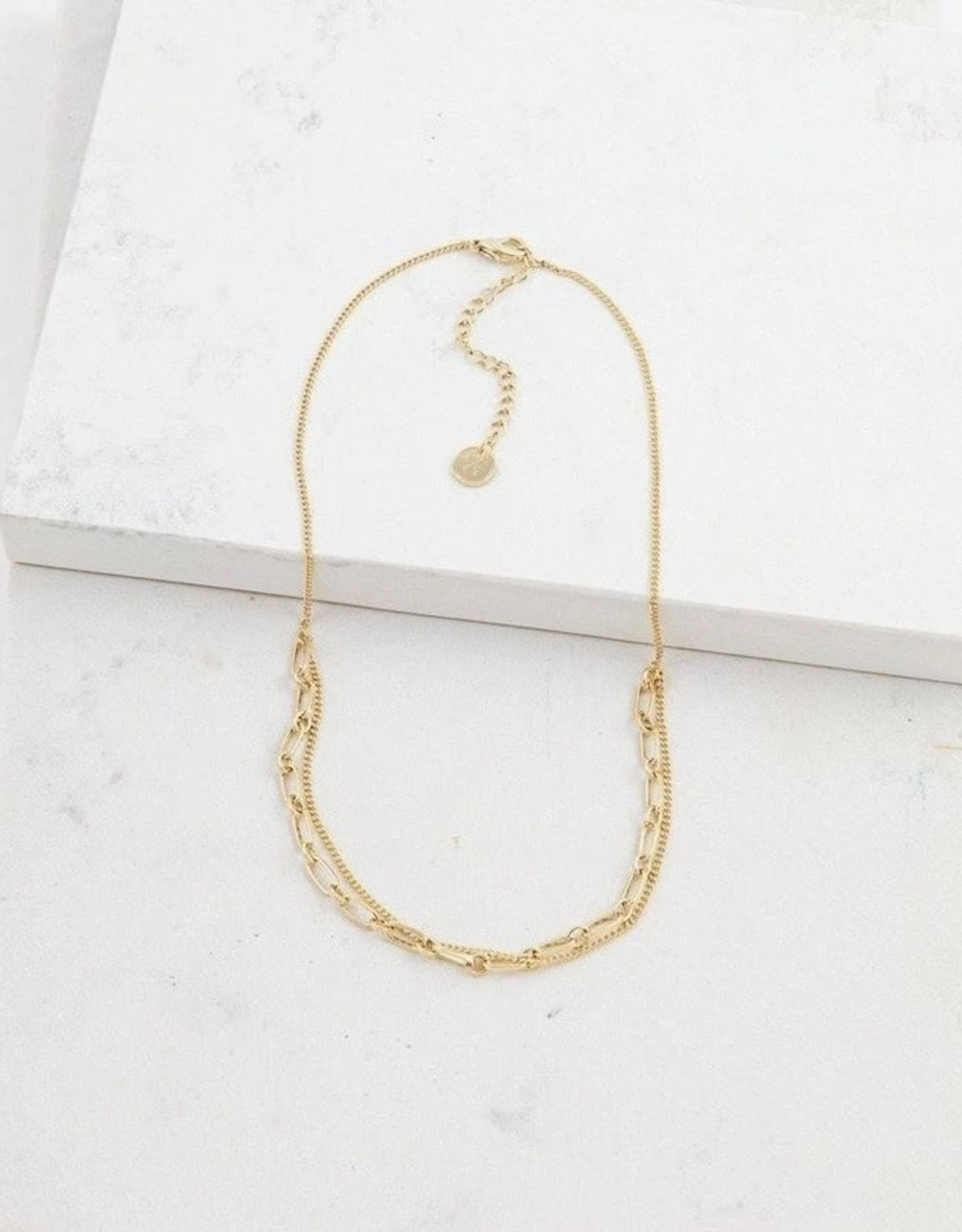Necklace, Aya, Gold plated brass