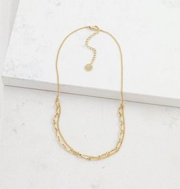 Gold Plated Brass Aya Necklace