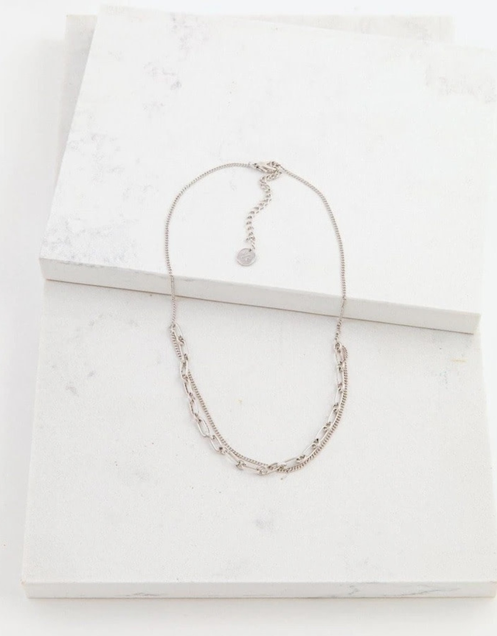 Silver Plated Brass Aya Necklace