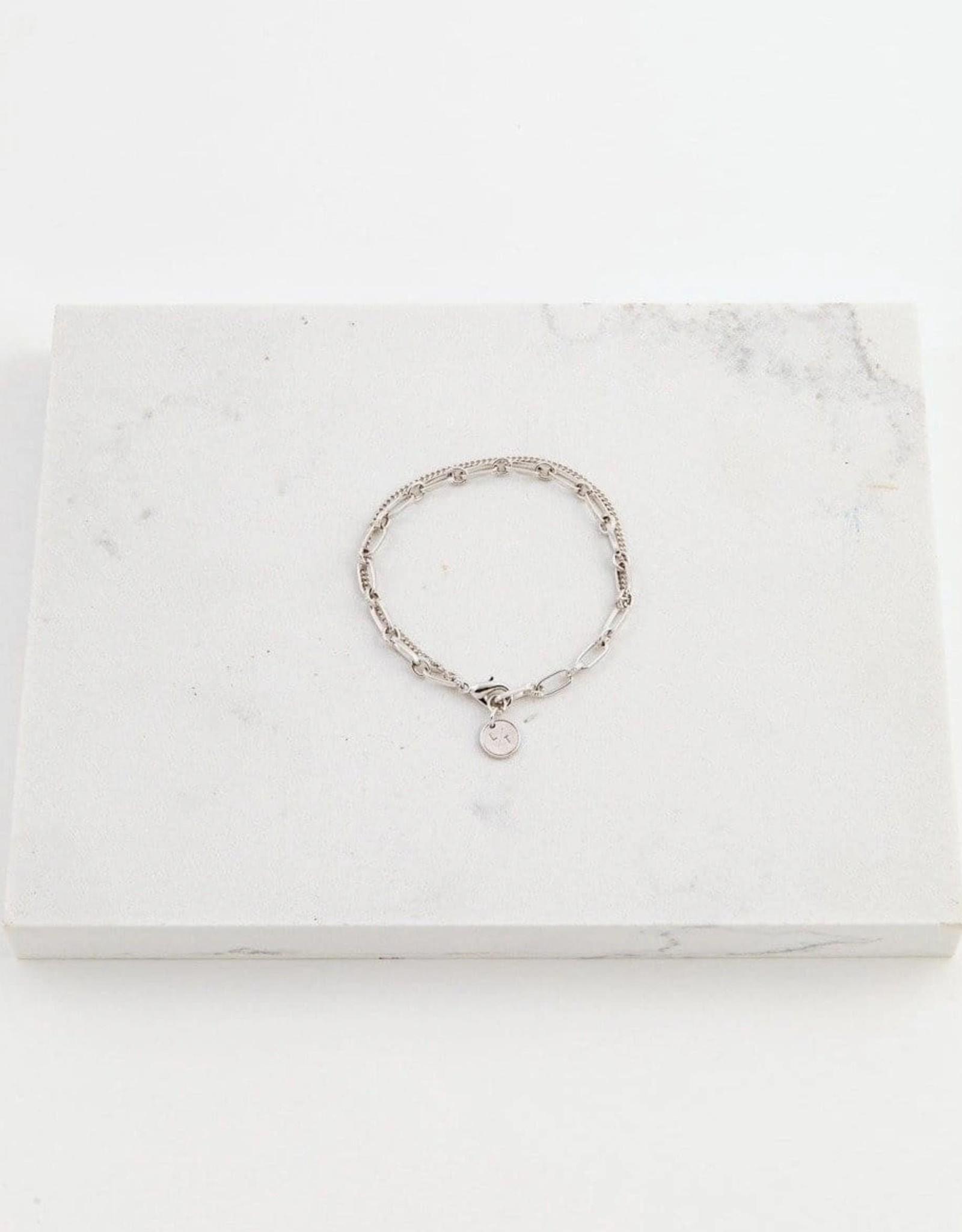 Silver Plated Brass Aya Bracelet