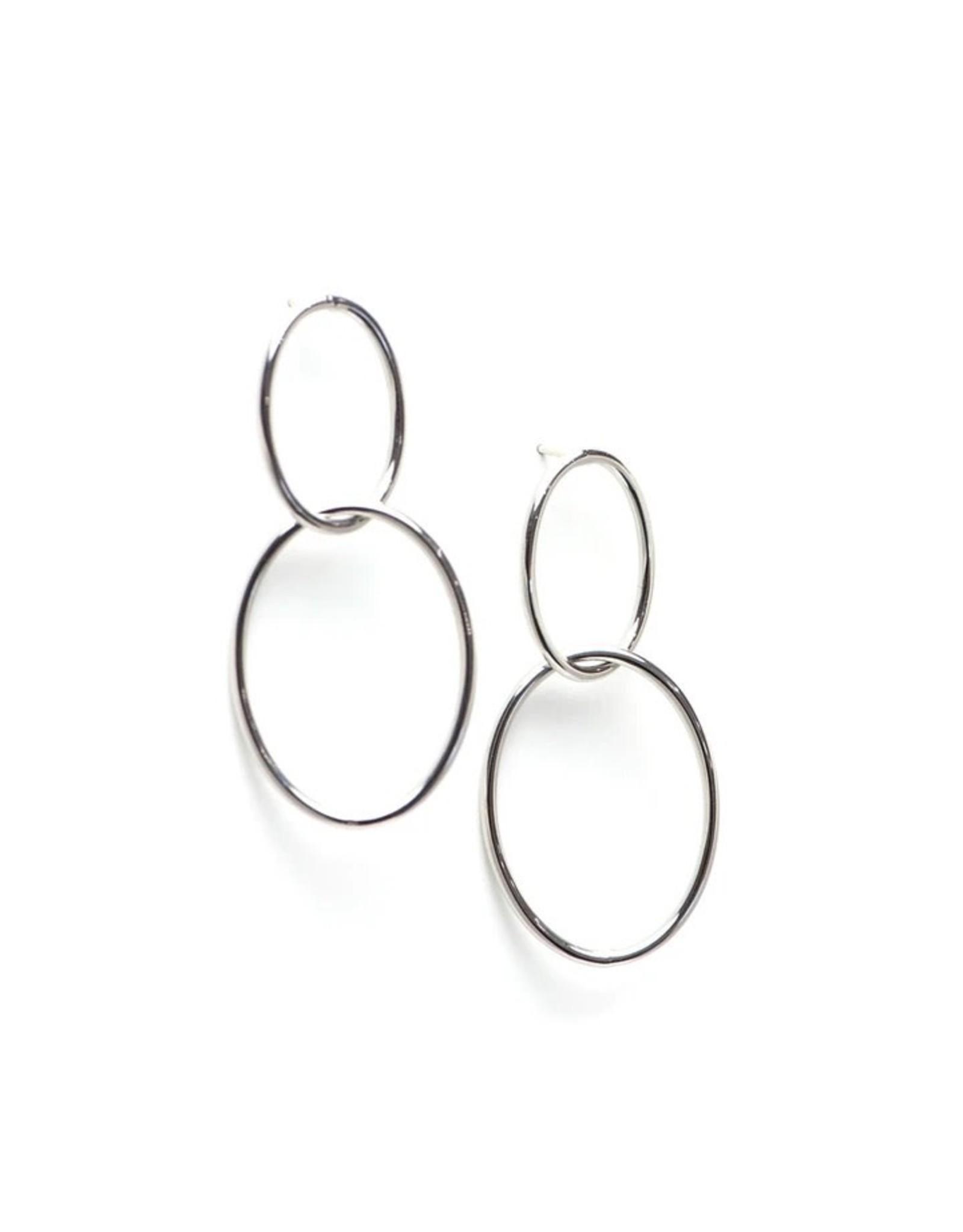 Silver Infinity Hoop Earrings