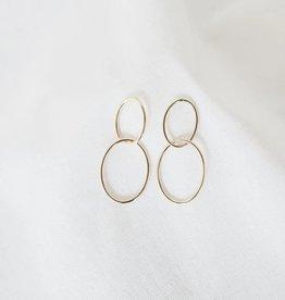 Gold Infinity Hoop Earrings