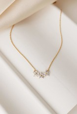 Gold Plated Brass Blossom Necklace