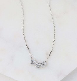 Silver Plated Brass Blossom Necklace