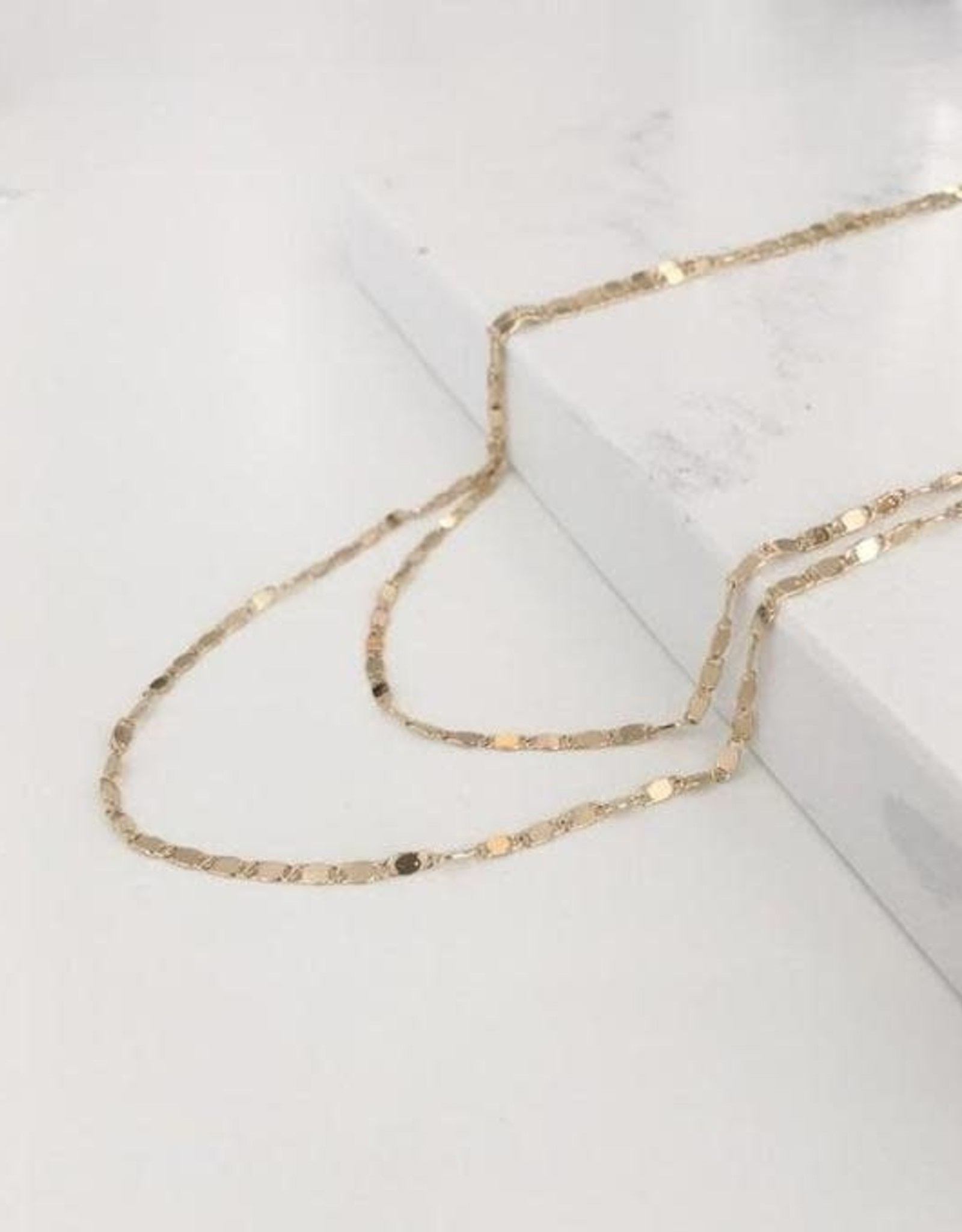 Double Layered Cleo Necklace - Gold