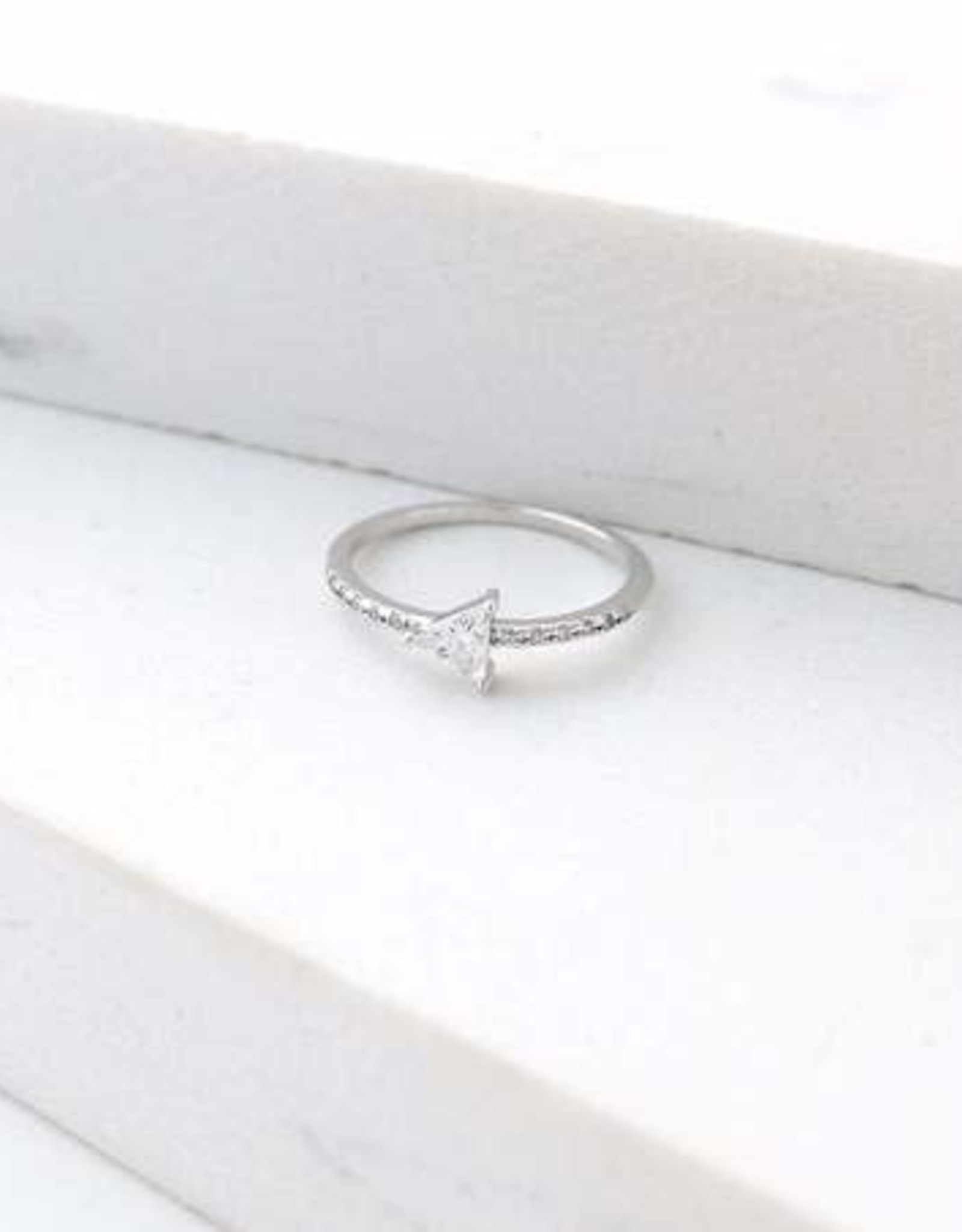 Silver Size 7 On Point Ring