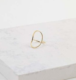 Ring, Origin, Gold plated brass
