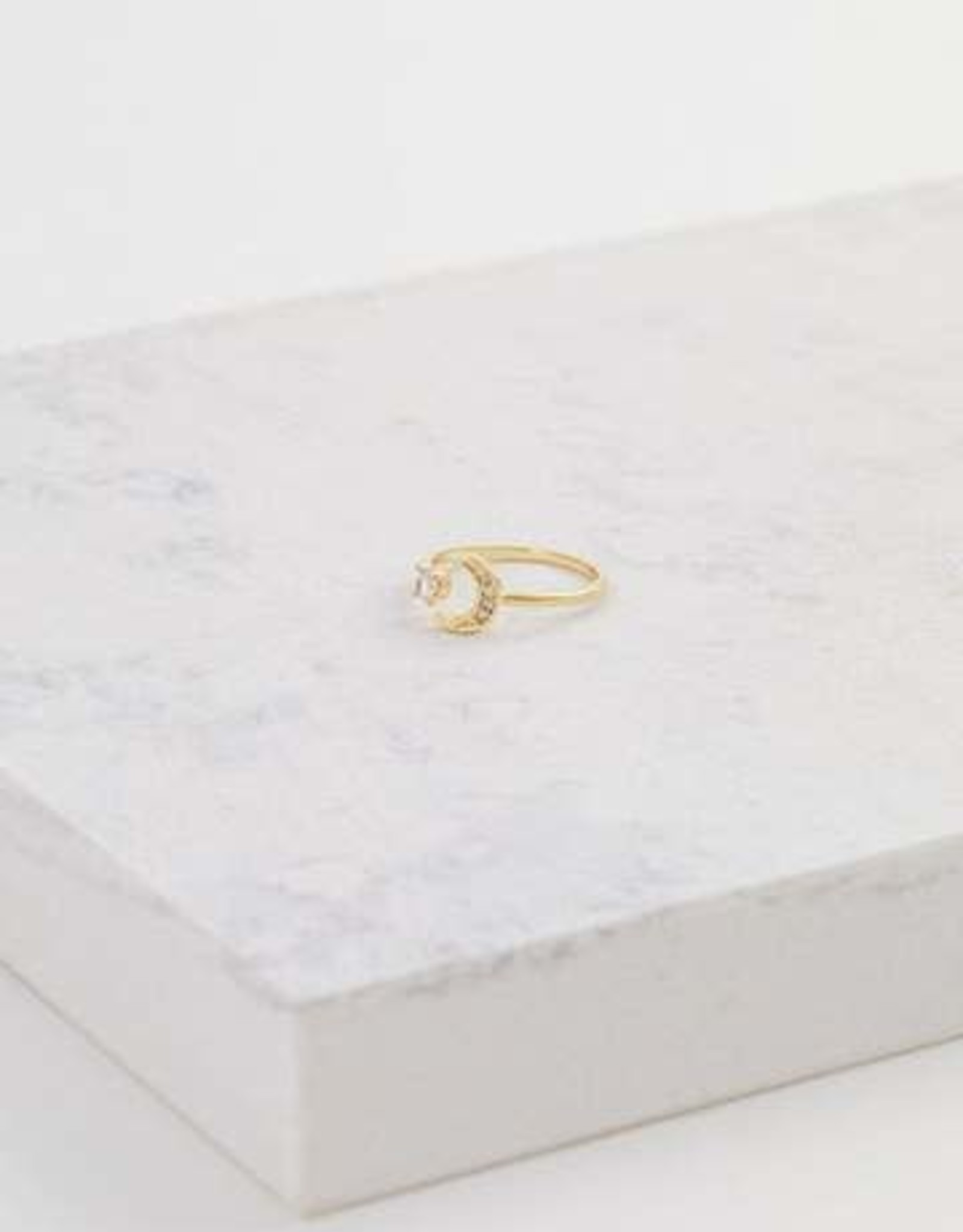 Ring, Moonlit Gold, Brass w/ Gold Plating