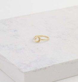Moonlit Gold Brass Ring