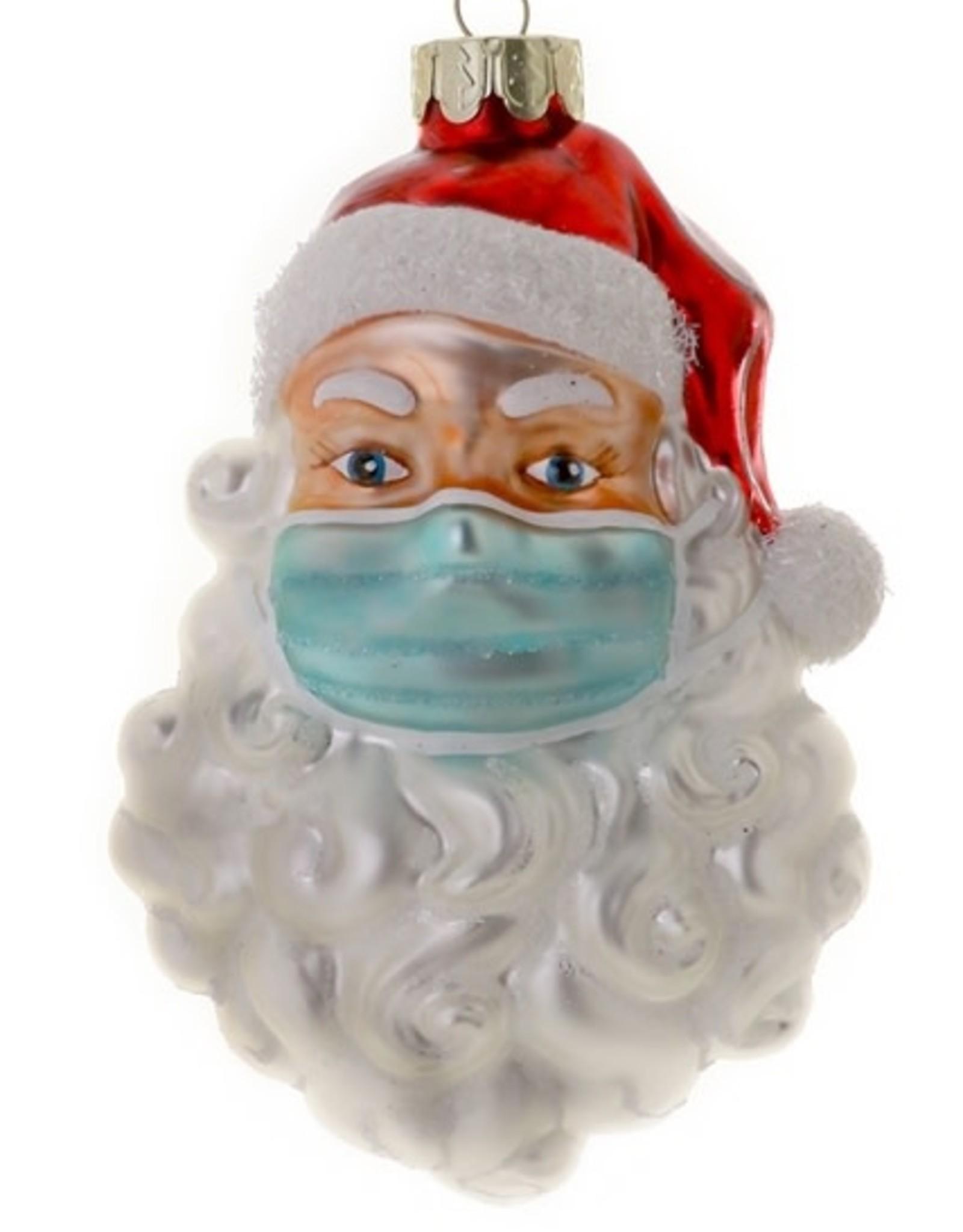 Santa with Mask 2020 Ornament