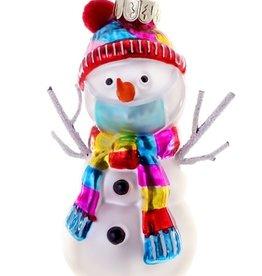 Social Distancing Snowman Ornament