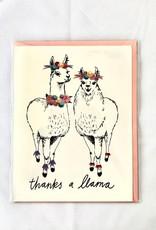 Thanks A Llama Card