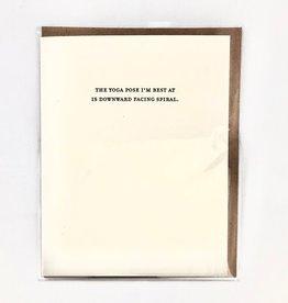 Mild Confessions Yoga Card