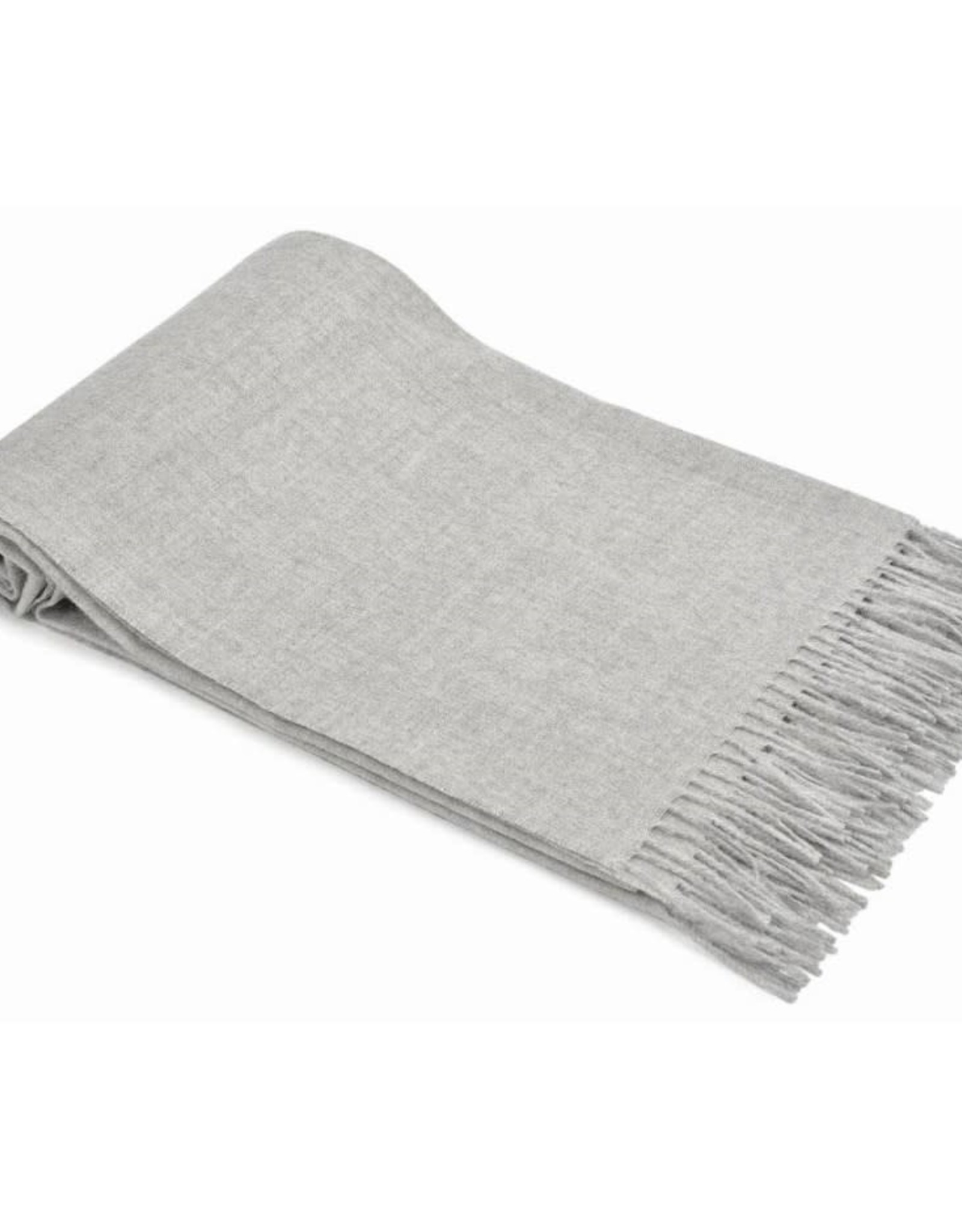 Grey Alpaca Throw