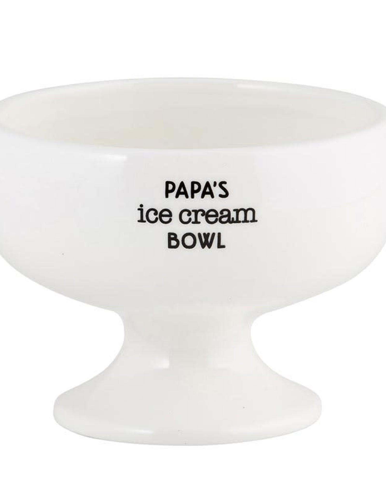 Papa's White Ceramic Ice Cream Bowl