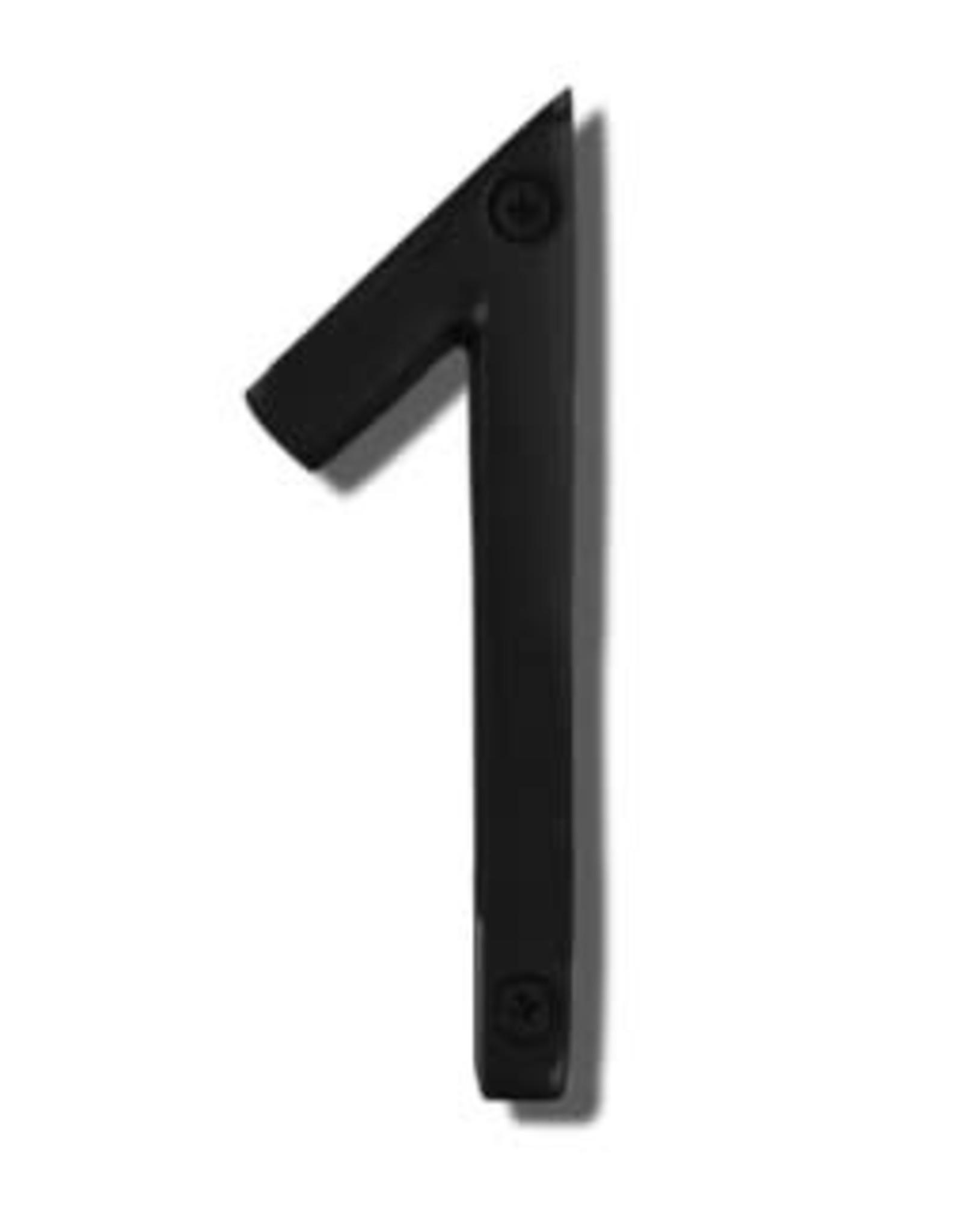 "6"" Black House Number, Black Aluminum, 1"