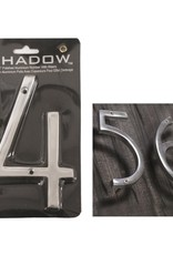 "6"" Polished Alumninum House Number, 4"