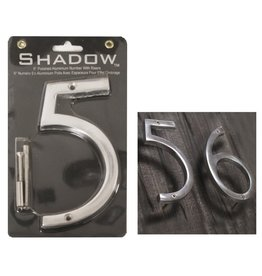 "6"" Polished Alumninum House Number, 5"