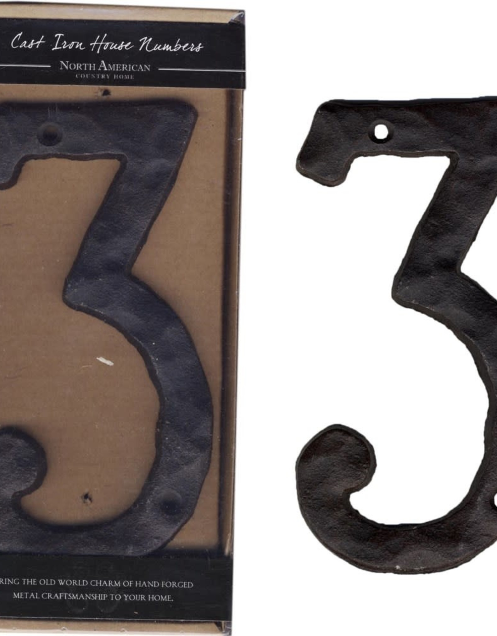 Rustic House Number, 3