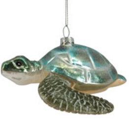 Xmas Blue Sea Turtle Ornament