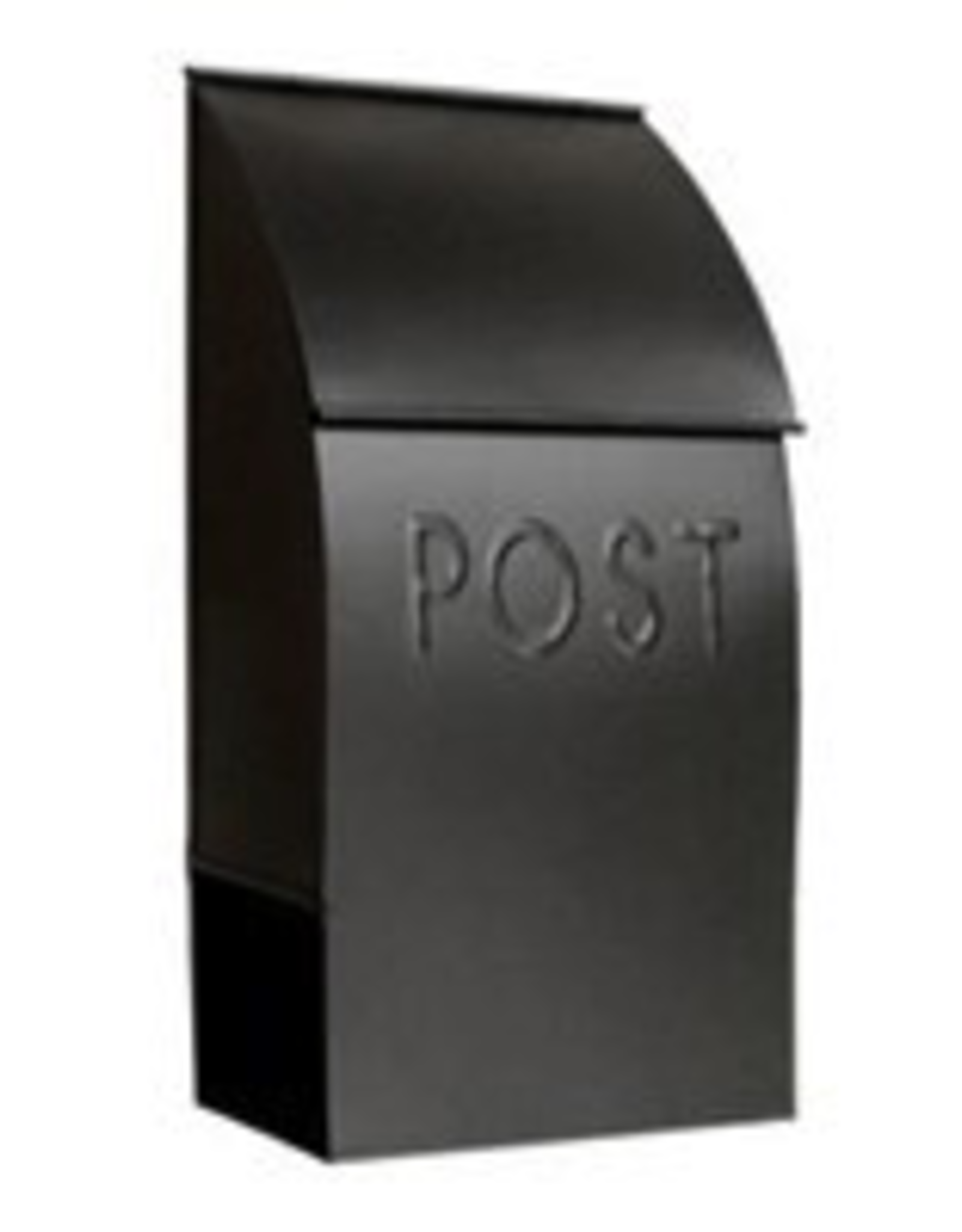 Black Milano Pointed Mailbox
