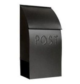 Black Milano Pointed Mailbox
