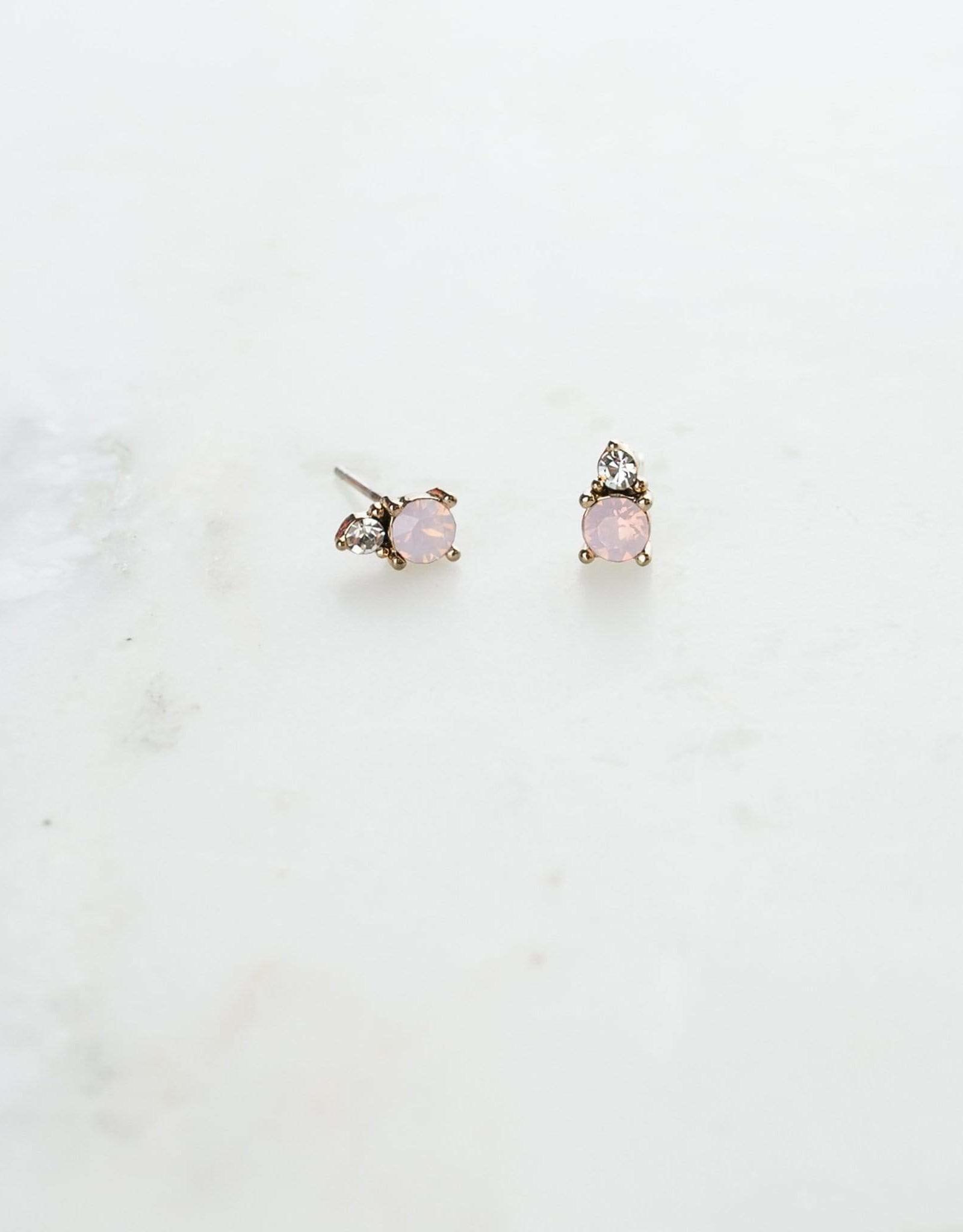 Dolce Pink Opal Stud Earrings