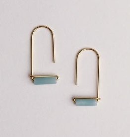 Gemstone Drop Earrings - Amazonite