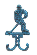 "6.5"" Blue Hockey Player Hook"