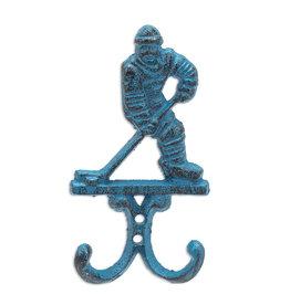 "6.5"" Blue Hockey Player Hook"