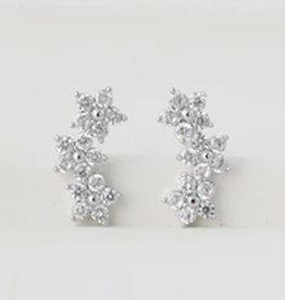 Blossom Climber Earrings - Silver