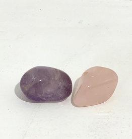 Amethyst & Rose Quartz Tumbled Stones