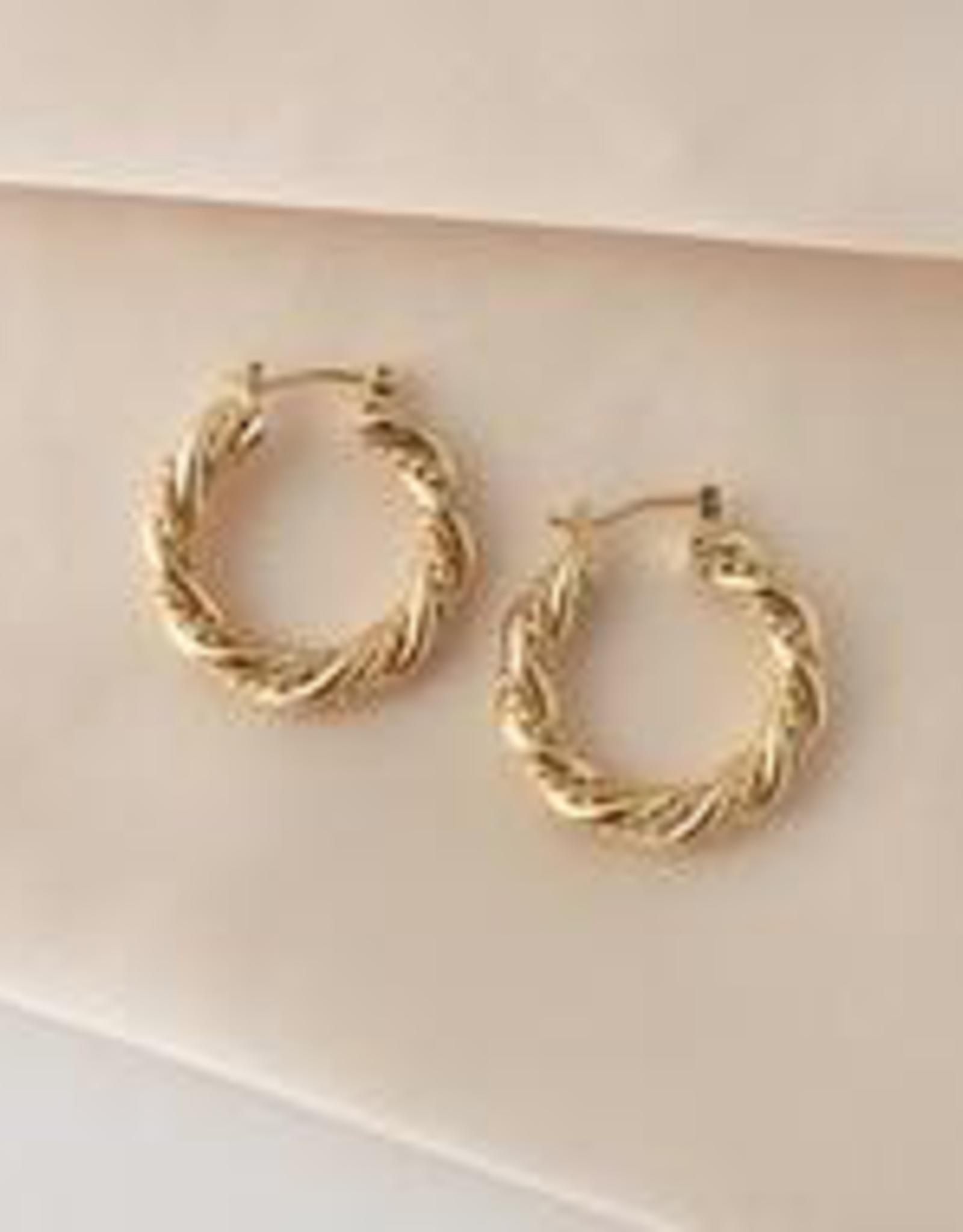 Jessie Hoops Earrings - Gold